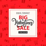 Calibre de bannière de vente de jour de valentines Images stock