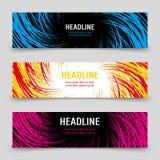 Calibre de bannières d'affaires avec des spirales colorées illustration libre de droits