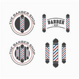 Calibre de Barber Shop Logo Set Vector Illustration Stock