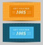 Calibre de bon de cadeau pour vos affaires Illustration de vecteur Photographie stock libre de droits