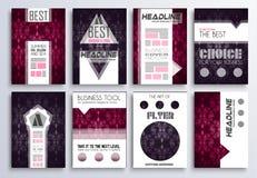 Calibre de brochure, conception d'insecte et couverture de Depliant illustration stock