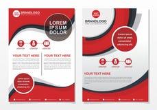 Calibre de brochure d'affaires avec la couleur rouge, blanche et noire illustration de vecteur