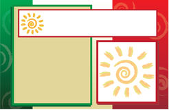 Calibre de brochure de carte postale de drapeau mexicain Image stock