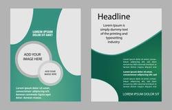 Calibre de brochure de conception de vecteur Image stock