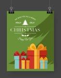 Calibre de brochure de Noël Image stock