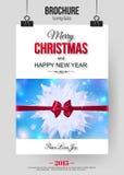 Calibre de brochure de Noël Résumé Photo libre de droits