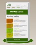 Calibre de bulletin d'information avec le style d'affaires Photo libre de droits