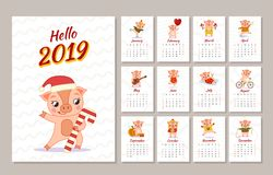 Calibre de calendrier illustration stock