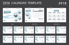 Calibre 2018 de calendrier de bureau Ensemble de 12 mois Photo stock