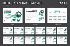 Calibre 2018 de calendrier de bureau Ensemble de 12 mois Image stock
