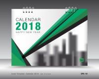 Calibre 2018 de calendrier de couverture Disposition de Livre vert Conception d'insecte de brochure d'affaires Publicité booklet illustration stock