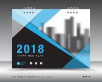 Calibre 2018 de calendrier de couverture Couverture de livre Conception d'insecte de brochure d'affaires illustration de vecteur
