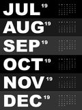 Calibre de calendrier pour 2019 photographie stock libre de droits