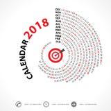 Calibre de 2018 calendriers Calendrier spiralé Ensemble du calendrier 2018 de 12 M Images stock