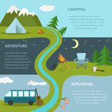 Calibre de camping, concept Image stock