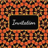 Calibre de carte d'invitation illustration stock