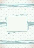 Calibre de carte d'invitation de fête de naissance Photo stock