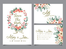 Calibre de carte d'invitation de mariage Image stock