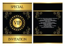 Calibre de carte d'invitation de VIP Photographie stock