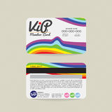 Calibre de carte de membre de Front And Back Rainbow Stripes VIP Image libre de droits
