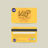 Calibre de carte de membre de Front And Back VIP Images stock