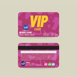Calibre de carte de membre de Front And Back VIP Image stock