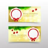 Calibre de carte de Noël 006 pour le bon d'invitation et de cadeau avec Photo libre de droits