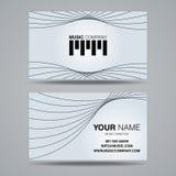Calibre de carte de nom de la société de musique illustration de vecteur