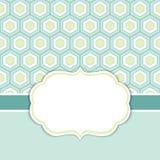Calibre de carte de vecteur avec un cadre sur le fond de nid d'abeilles avec l'espace pour votre texte illustration stock