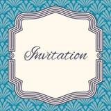 Calibre de carte de voeux d'invitation, de mariage ou Cadre élégant Photographie stock
