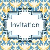 Calibre de carte de voeux d'invitation, de mariage ou Cadre élégant Photo stock