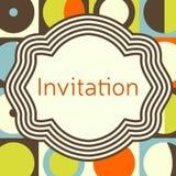 Calibre de carte de voeux d'invitation, de mariage ou Cadre élégant Photo libre de droits