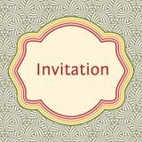 Calibre de carte de voeux d'invitation, de mariage ou Cadre élégant Photos stock