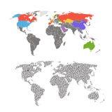 Calibre de carte du monde Image libre de droits