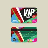 Calibre de carte de membre de Front And Back VIP Photo libre de droits