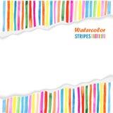 Calibre de carte postale avec les rayures colorées lumineuses Photos libres de droits