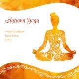 Calibre de carte de vecteur des classes de yoga illustration libre de droits