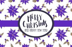 Calibre de carte de voeux de Noël et de nouvelle année Photos libres de droits
