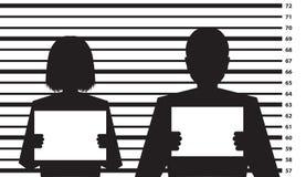 Calibre de casier judiciaire de police Photo libre de droits