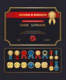 Calibre de certificat de vecteur Photographie stock libre de droits