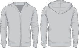 Calibre de chemises du hoodie des hommes Vues avant et arrières Images libres de droits
