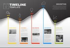 Calibre de chronologie avec le graphique illustration stock