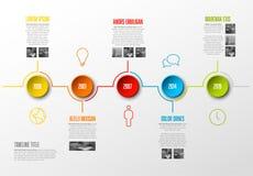 Calibre de chronologie d'Infographic Photo libre de droits
