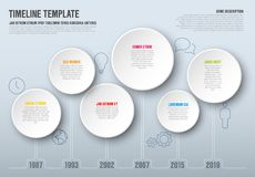 Calibre de chronologie d'Infographic de vecteur Photos stock