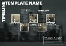 Calibre de chronologie d'Infographic de vecteur avec des photos illustration libre de droits