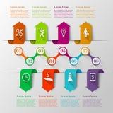 Calibre de chronologie de flèches d'Infographics illustration stock