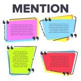 Calibre de citation de mention dans le vecteur de citations de cadre illustration de vecteur