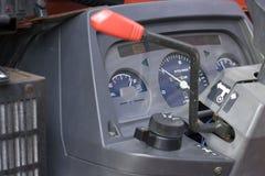 Calibre de combustível da placa do traço do Backhoe Fotografia de Stock