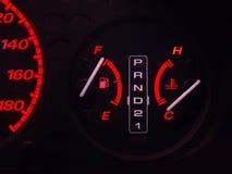 Calibre de combustível e calibre da temperatura Fotos de Stock Royalty Free