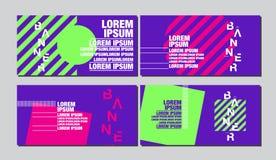 Calibre de conception de bannière, fond abstrait, présentation, disposition colorée Image libre de droits